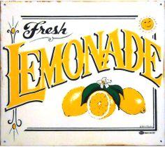 Fresh Lemonade Metallschild- I bought one for our kitchen. :)
