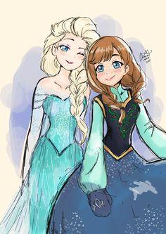 Frozen sisters by ChalsM on DeviantArt