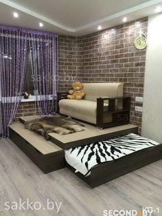 Кровать подиум - спальное место выезжает на роликах из подиума – специальной деревянной конструкции, как бы приподнимающей пол. Обычно подиум имеет высоту от 20 до 50 см, что вполне достаточно для ...