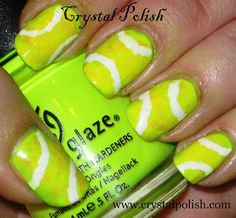 tennis - They don't really look like tennis balls to me, i just like the color. neon nails