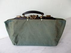 Stunning Antique French Leather Doctor's Bag  by Decofanatique
