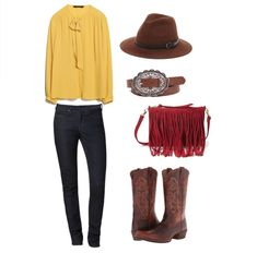 Blouse from Zara, Jeans from Calvin Klein, Hat from Sole Society, Belt from Buckle, Purse from Forever21, Boots from Ariat