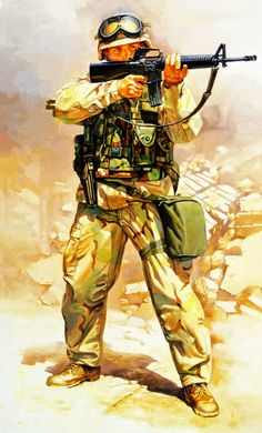 """American soldier in"""" desert """" camouflage Afghanistan War, Iraq War, Military Gear, Military History, Military Uniforms, America's Army, Ddr Museum, Military Decorations, Military Drawings"""