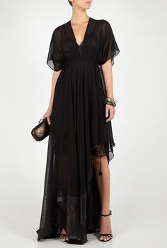 Black Comitma Maxi Dress by Malene Birger. $608.85 #dress #sheer #lace