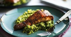 Grilled Salmon and Vegetable Mash - Tassal Tassie Salmon Healthy Eating Recipes, Low Carb Recipes, Fish Recipes, Seafood Recipes, Quinoa, Yummy Food, Tasty, Grilled Salmon, Kitchen