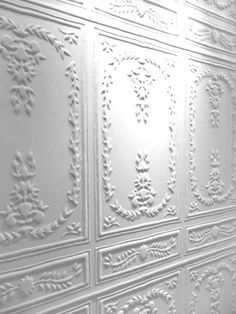 Classic white panelling, I totally love this style....