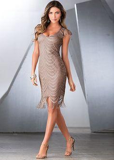 Metalilic crochet dress in the VENUS Line of Dresses for Women