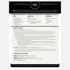 resume - black and white