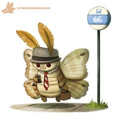Daily Paint #1091. THE MOTHMAN!!, Piper Thibodeau on ArtStation at https://www.artstation.com/artwork/Rq9RA