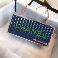 e659f99a34f8 Chanel Evening in Hamburg Minaudiere Bag A94670 Blue 2018 Chanel Bag Sale,  Chanel Bags,