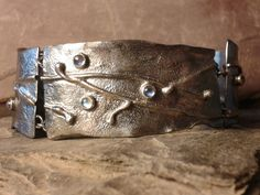 Silver and moonstone bracelet from the Unearthed range by Roche Designs