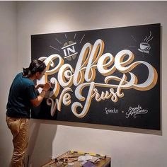 Graphics for coffee shop