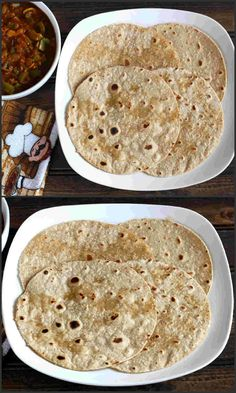 Oats Chapati:  a very nutritious, easy to make vegan flat bread recipe prepared…