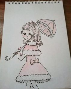 #art #girl #pink #dress #lolita