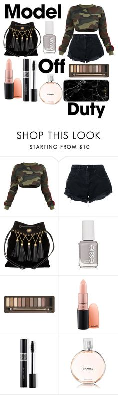 """off duty time!"" by jeonayla on Polyvore featuring Nobody Denim, Miu Miu, Essie, Urban Decay, Christian Dior and Chanel"
