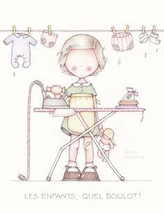 Tierna ilustración infantil