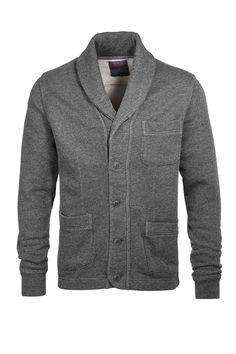 Sweat-Cardigan, Schalkragen CASUAL - Esprit Online-Shop