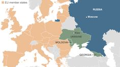 Europe map: Moscow is not happy with today's developments. Ukraine, Georgia and Moldova sign partnership agreements with the European Union, a move Russia says will have serious consequences.