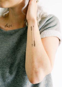 2 Arrow Temporary Tattoos - SmashTat