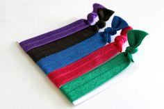 Set of 5 Hair Ties, Ponytail... from ElenasBows on Wanelo