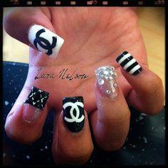 cool Chanel Nail Art