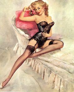 Blonde Pinup Girl | Tattoo Ideas & Inspiration - Pinups | Scadino, 1959.