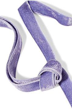 Erickson Beamon - American Graffiti Velvet Swarovski Crystal Choker - Purple - one size