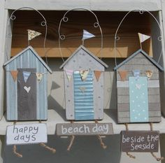Gisela Graham Beach Hut Plaques