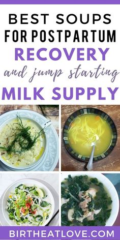 Boost milk supply while breastfeeding and speed up postpartum recovery. Healthy Soup Recipes, Baby Food Recipes, Dinner Recipes, Food Tips, Instant Pot, Postpartum Diet, Postpartum Recovery, Confinement Food, Healing Soup