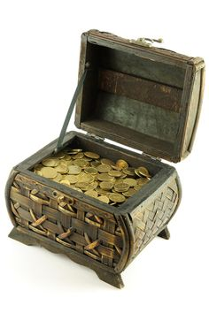 Treasure Chest  I have one like this with a bunch of coins from around the world. ;)
