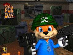 """""""Conker's Bad Fur Day"""" Getting Sequel - Finally Donkey Kong 64, Donkey Kong Country, Inti Creates, Mature Games, Conkers, Classic Video Games, Metroid, Mortal Kombat, Games To Play"""