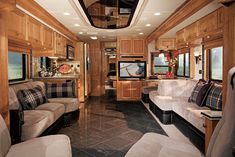 photos of tour bus interiors | 2008 Monaco Coach Executive Class A Motorhome - a luxury RV