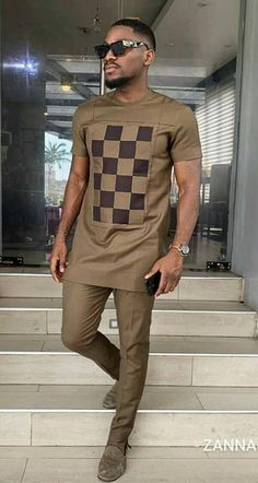 Imole African men shirt and a matching pant set/African clothing/African men clothing/African men shirt /dashiki/summer/prom/groom suit This elegant outfit is handmade with love. The shirt is designed African Wear Styles For Men, African Shirts For Men, African Dresses Men, African Attire For Men, African Clothing For Men, Latest African Fashion Dresses, Mens Clothing Styles, Men's Clothing, Ankara Fashion