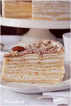 Ciasto Marcinek - I Love Bake Polish Recipes, Polish Food, Ukrainian Recipes, Sugar Art, Cake Tutorial, Just Desserts, Vanilla Cake, Sweets, Snacks