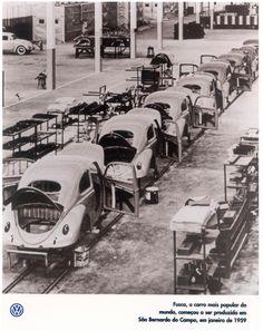 Fusca, o carro mais popular do mundo, começou a ser produziedo em São Bernardo do Campo, em janeiro de 1959.