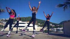 Summer Girls Fitness Is Fun Glamorous and Sexy Kangoo Jumps Workout Zumba Dance Music Party