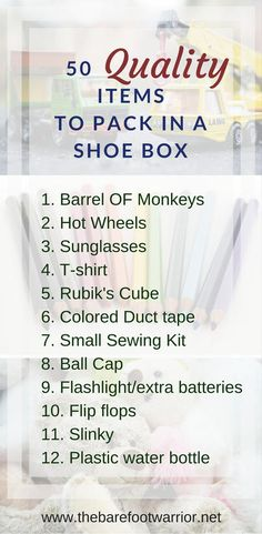 How To Build A Better Shoe Box - 50 Things To Pack For Operation Chris