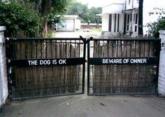 The dog is OK, beware of owner.