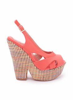 colorful thread heel