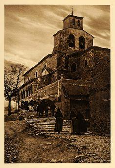 1925 San Esteban de Gormaz Village Church People Spain - ORIGINAL SP3