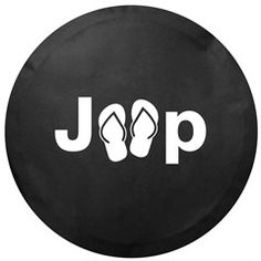All Things Jeep Jeep Sandal Logo Tire Cover