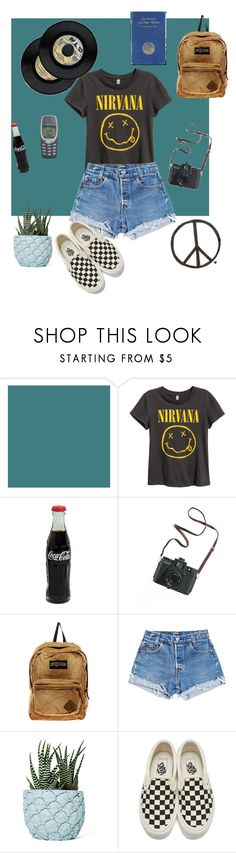"""""""Nirvana"""" by efflorescence-moon-child ❤ liked on Polyvore featuring Farrow & Ball, Madewell, JanSport, Levi's, Chen Chen & Kai Williams and Vans"""