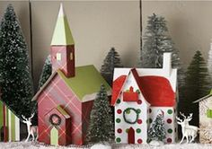 DIY: Recycle Cereal boxes into Christmas Village