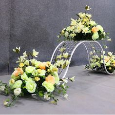 Wedding arch floral party donut metal road lead backdrop decorative silk flowers stand arrangement welcome area two sides props Romantic Room Decoration, Arch Decoration, Balloon Decorations, Stage Decorations, Flower Decorations, Wedding Ceremony Flowers, Wedding Stage, Wedding Mandap, Church Wedding