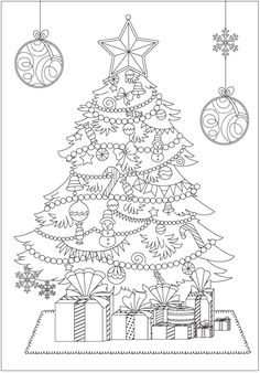 Christmas Coloring Books for Adults - Christmas Coloring Books for Adults , 101 Best Christmas Coloring Pages for Kids & Adults Printable Christmas Coloring Sheets, Printable Christmas Coloring Pages, Christmas Colors, Christmas Art, Christmas Ribbon, Christmas Tree Drawing, Coloring Book Pages, Coloring For Kids, Holidays