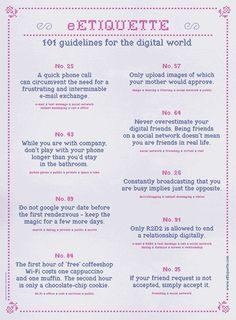 Etiquette Rules | 101 Digital Etiquettes That You Need to Know