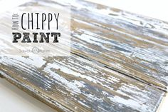 How to: Layered Chippy Paint Stain ( I used a ratio of Jacobean/Weathered Oak) Colors of paint ( I used White and Blue-Grey Slate by Behr) Candle or Wax Wood/Project Distressing Painted Wood, Weathered Paint, Distressed Painting, Weathered Oak, Antiquing Wood, Crackle Painting, Diy Painting, Painting On Wood, Chalk Paint Projects