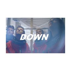 Down ❤ liked on Polyvore featuring tops, one direction, heart tops and blue top