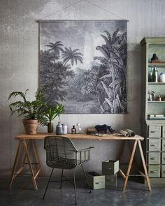 HK Living, a spirit wabi sabi and boho - Decoration For Home Home Design, Home Office Design, Office Decor, Design Ideas, Office Furniture, Turbulence Deco, Style Deco, Room Decor, Wall Decor