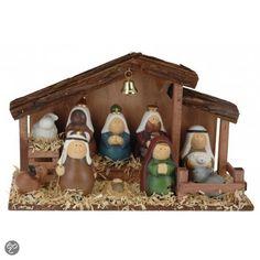 Fun & Feest Kerstdecoratie Kinder kerststal met